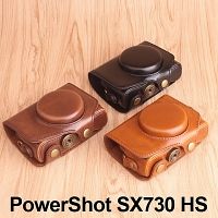 Canon PowerShot SX730 HS Premium Protective Leather Case with Leather Strap