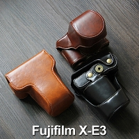 Fujifilm X-E3 Premium Protective Leather Case with Leather Strap