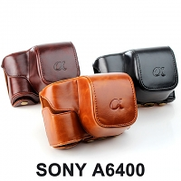 SONY A6400 Leather Case with Leather Strap