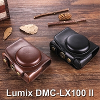 Panasonic Lumix DMC-LX100 II Leather Case with Leather Strap