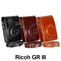 Ricoh GR III Leather Case with Leather Strap