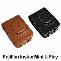 Fujifilm Instax Mini LiPlay Leather Case with Leather Strap
