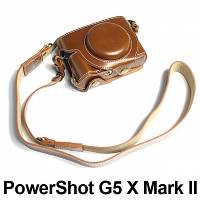 Canon PowerShot G5 X Mark II Premium Leather Case with Leather Strap