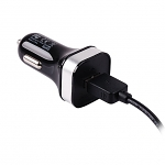 Momax Portable USB Car Charger W/ Lightning to USB Cable