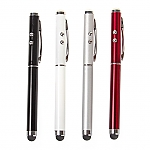 3 in 1 Touch Pen w/ Laser Pointer + LED Torch