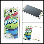 Samsung Galaxy S III I9300 Phone Sticker Front/Rear Set - Glasses Alien
