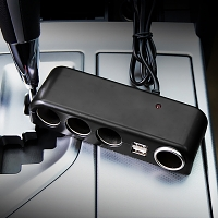 4-in-1 Car Adapter with 2 USB ports