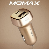 Momax Type-C + USB Car Charger