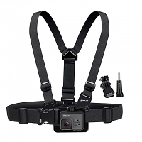 Adjustable Body Mount Belt Chest Strap with J Hook Mount & Long Screw