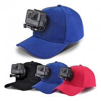 Baseball Hat with J-Hook Buckle Mount & Screw