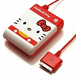 Hello Kitty Red-White AA Battery Emergency Charger Box for iPhone/iPod