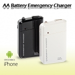 AA Battery Emergency Charger With LED Light for All iPhone series / Android Phone / Smart Phone