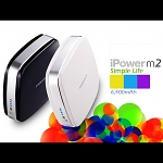 6400mAh iPower M2 Portable Dual USB Output (2.1A+1A) External Battery