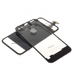 iPhone 4S Transparent Front & Rear Panel Set - Black