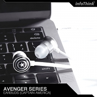 infoThink Captain America 3.5mm Earphone