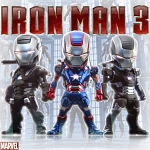 Plug-in 3.5mm Earphone Jack Accessory - MARVEL Iron Man 3 War Machine Troop 3-piece Collector Set