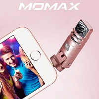 MOMAX X-MIC Mini 3.5mm Microphone Singing Mic for Smartphone & Tablet