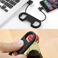 Lightning Cable with Bottle Opener