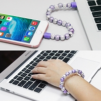 Bling Bead Bracelet Lightning Cable