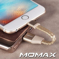 Momax Elite Link - Lightning Leather Short Cable
