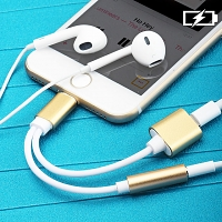 Lightning to 3.5mm Audio with Lightning Power Supply Cable for iPhone 7 / 7 Plus