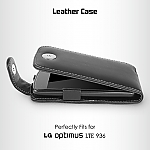 Brando Workshop Leather Case for LG Optimus True HD LTE P936 (Flip Top)