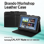 Brando Workshop Samsung Galaxy Note 10.1 GT-N8000 Leather Case (Side Open w/ magnet)