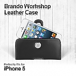 Brando Workshop Leather Case for iPhone 5 / 5s / 5c / SE (Pouch Type)