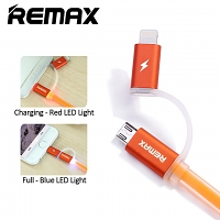 REMAX Aurora USB to Micro USB/Lightning Cable