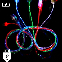 LED Flashing Streamer microUSB Cable