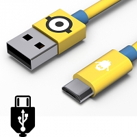 Tribe Minions Carl microUSB Cable