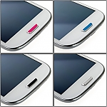 Shiny Metallic Button Sticker for Samsung Galaxy S III I9300