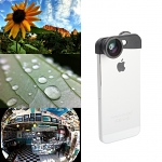 iPhone 5 / 5s Professional 3-in-1 Camera Lens (Wide + Marco + Fisheye Lens)