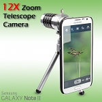 Professional Samsung Galaxy Note II GT-N7100 12x Zoom Telescope with Tripod Stand