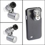 Samsung Galaxy S4 Microscope with White 2-LED and Note Detector LED