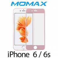 Momax Full Screen Coverage Glass Protector for iPhone 6 / 6s (Rose Pink)