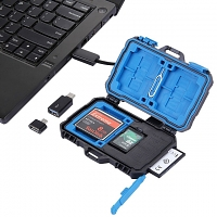 USB 3.0 Card Reader + 22 in 1 Memory Card Tough Case