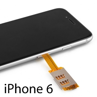 Dual Sim Card for iPhone 6 / 6s with Back Case