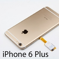 Dual Sim Card for iPhone 6 Plus with Back Case