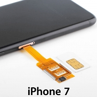 Dual Sim Card for iPhone 7 with Back Case