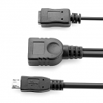 MircoUSB OTG Cable with MicroUSB External Power Supply