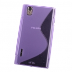 LG Prada 3.0 P940 Wave Plastic Back Case