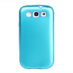 Samsung Galaxy S III I9300 Glossy Metal Back Cover w/ Rubber Lining
