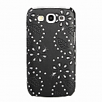 Samsung Galaxy S III I9300 Glittery Leaf Embossed Back Case
