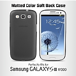Matted Color Samsung Galaxy S III I9300 Soft Back Case