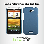 HTC One X Marble Pattern Protective Back Case