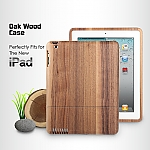 Oak Wood Case for The new iPad (2012)