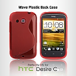 HTC Desire C Wave Plastic Back Case
