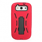 Samsung Galaxy S III I9300 Ergonomic Soft and Strength Stand Jacket Back Case