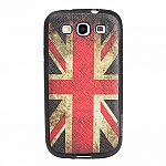 Samsung Galaxy S III I9300 Vintage National Flag Leather Back Case